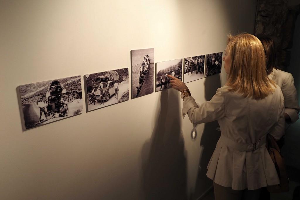 16/06/15 Inauguració de l'exposició Remor. Una apriximació visual i sonora del Club Natació Banyoles. FOTO: PERE DURAN