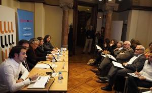 Taula rodona sobre la internacionalització de l'art català a la seu de l'Institut Ramon Llull de Barcelona. FOTO:PERE DURAN