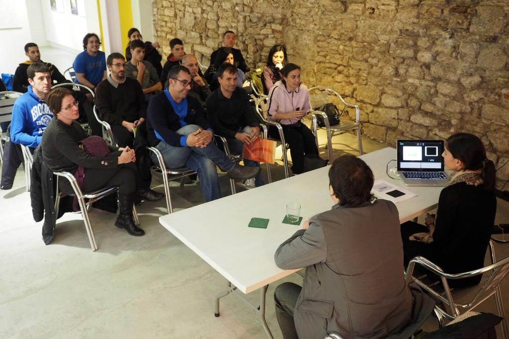 Cicle de xerrades sobre Psicologia i Esport a l'Espai Eat Art de Banyoles. FOTO: PERE DURAN