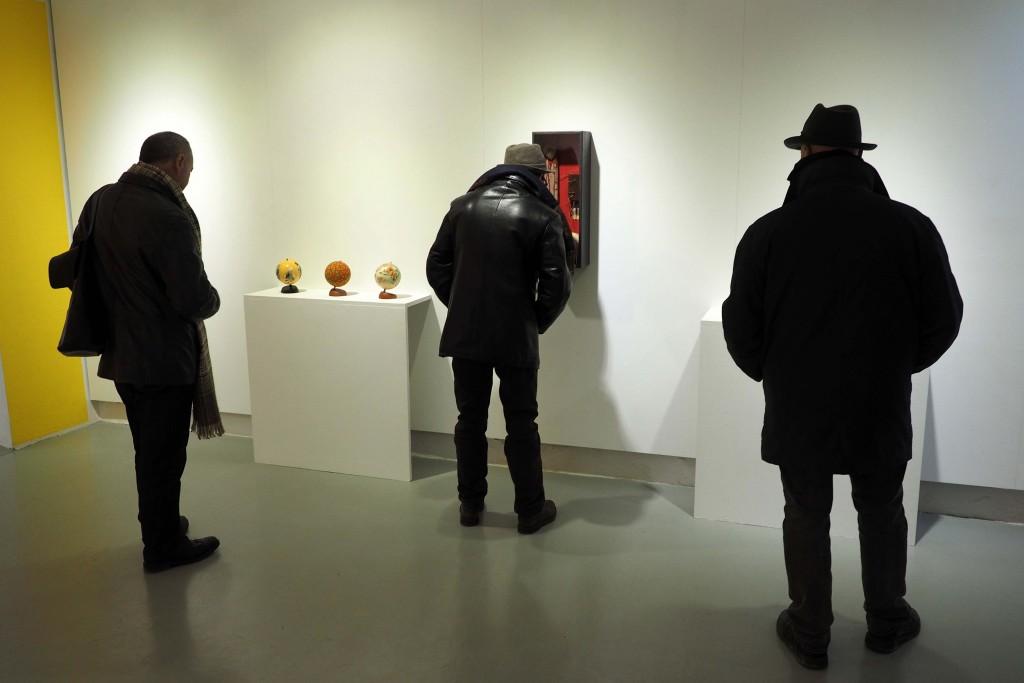 11/03/16 Exposició col.lectiva Un Altre Món a l'Espai Eat Art de Banyoles. FOTO: PERE DURAN