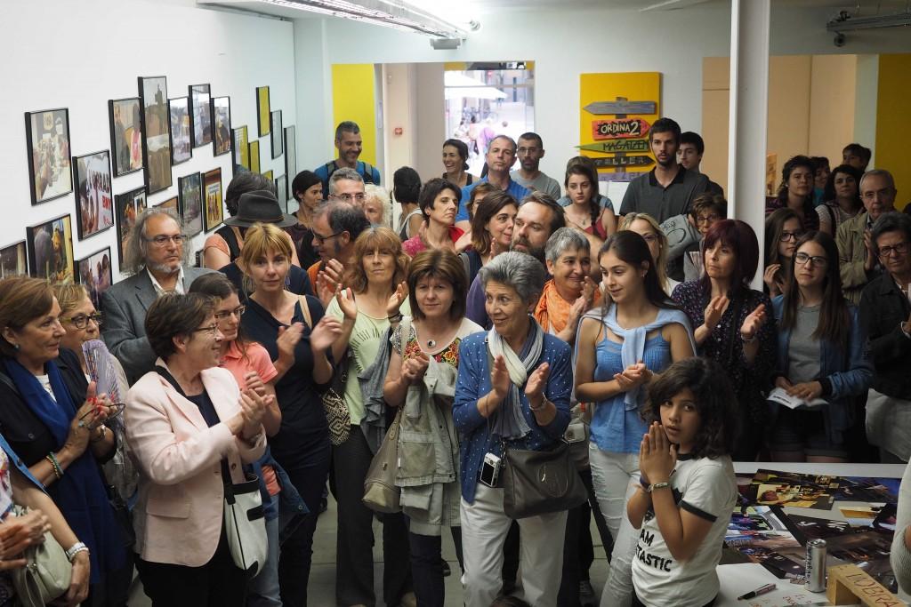 Inauguració exposició La Veu dels Sense veu, del col.lectiu L'Obrador Bny a l'Espai Eat Art. PERE DURAN / NORD MEDIA