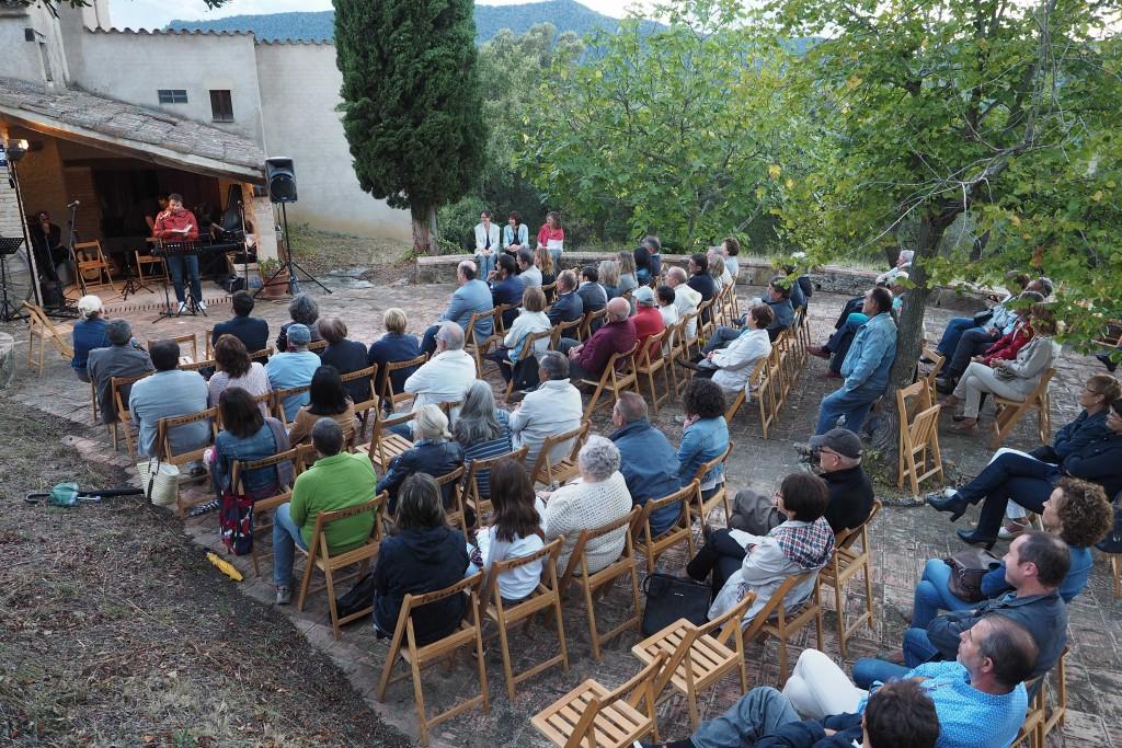 Homenatge a Carles Fontserè i Terry Broch a Can Tista. PERE DURAN / NORD MEDIA